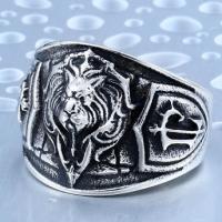 Кольцо со львом BVRT002