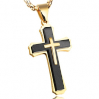 Кулон крест HWPT059-2