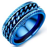 Кольцо синее HWRT009