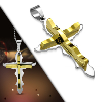 Кулон крест PPLY486