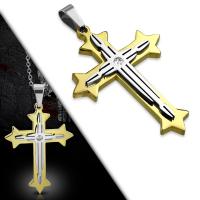 Кулон крест PPLY856