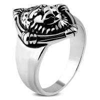 Кольцо со львом RRMT410