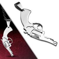Кулон револьвер PTPB186