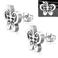 Серьги бабочки EZEM475