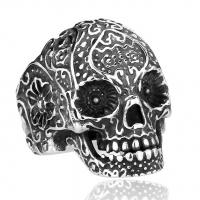 Кольцо череп B-RT008