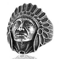 Кольцо с индейцем B-RT144