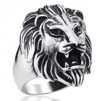 Кольцо со львом B-RT344