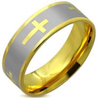 Кольцо с крестом RERG035